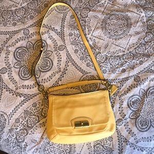 Authentic Coach Kristen buttercup leather hobo bag
